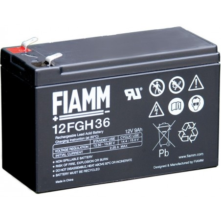 Fiamm 12FGH36 Batteria Al Piombo Ricaricabile 12V 9Ah
