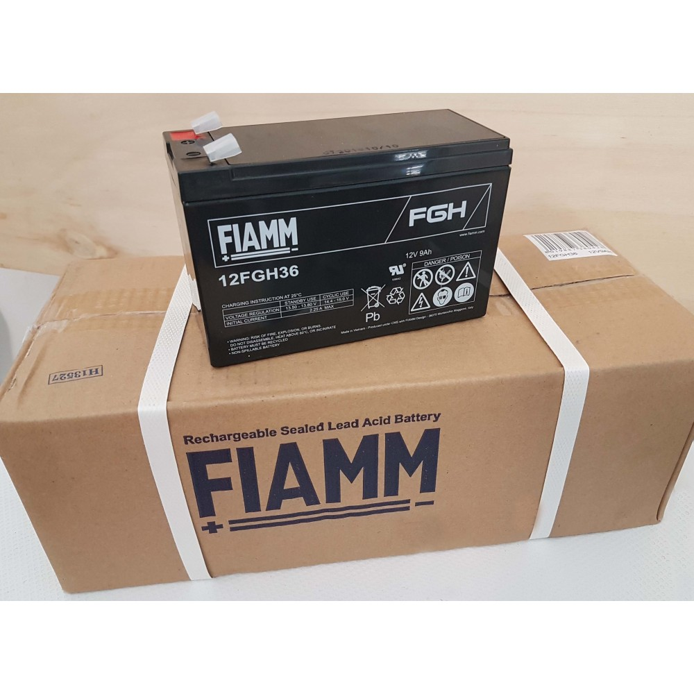 Scatola Batterie Fiamm 12FGH36 Al Piombo Ricaricabile 12V 9Ah Comfezione 5 pezzi