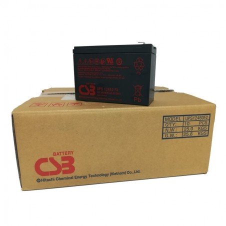 PACK 10 - CSB Batteria Al Piombo ricaricabile 12V 7Ah