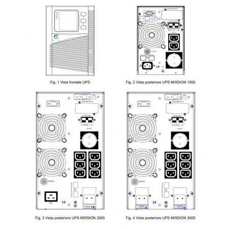 Elsist MISSION 1000 Gruppo di Continuità  - UPS On Line 1000VA/800W