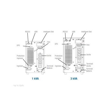 Gtec ZY120- 2K Gruppo di Continuità - UPS On Line 2000VA/1800W