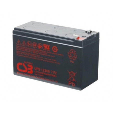 CSB Batteria Al Piombo Ricaricabile 12V 7Ah