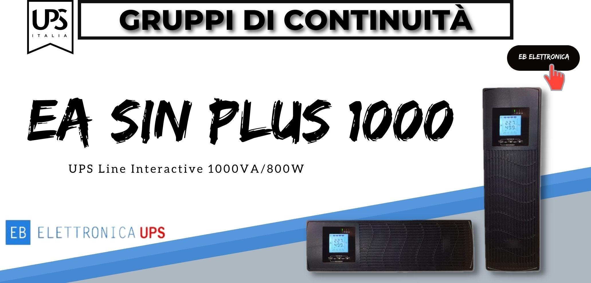 EA SIN PLUS 1000 - Gruppo di Continuità - UPS Line Interactive 1000VA/800W